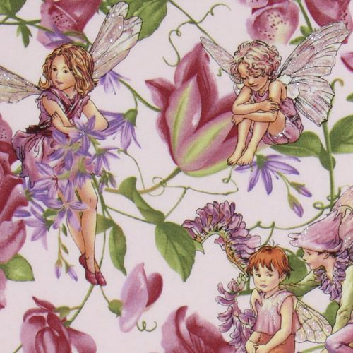 Michael Miller fabric Magical Garden Fairies lilac cute lilac
