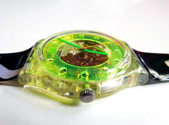 Montre Shorts GK133 Swatch surfeur transparent design en