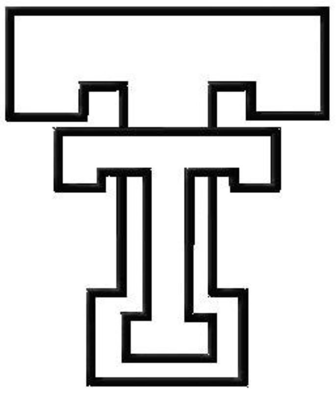 Texas Tech Black And White Logo For Pattern Plans Crochet Misc
