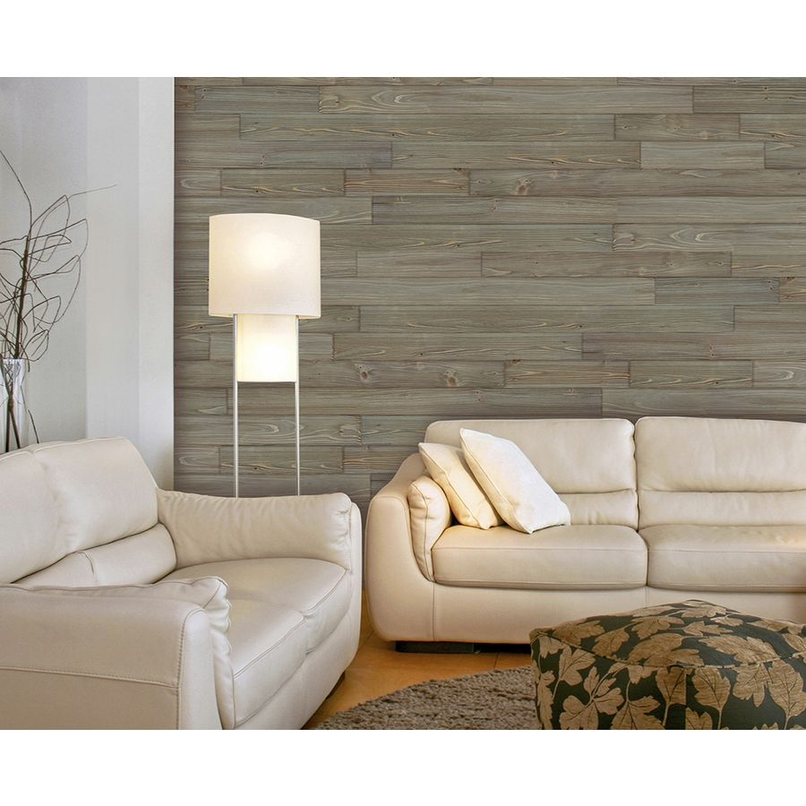 Design Innovations Reclaimed Wood 3.5-in x 4-ft Weathered Cedar Wall Plank - Wood Wall - Using Cedar Fencing, Burn The Cedar With A Torch (to