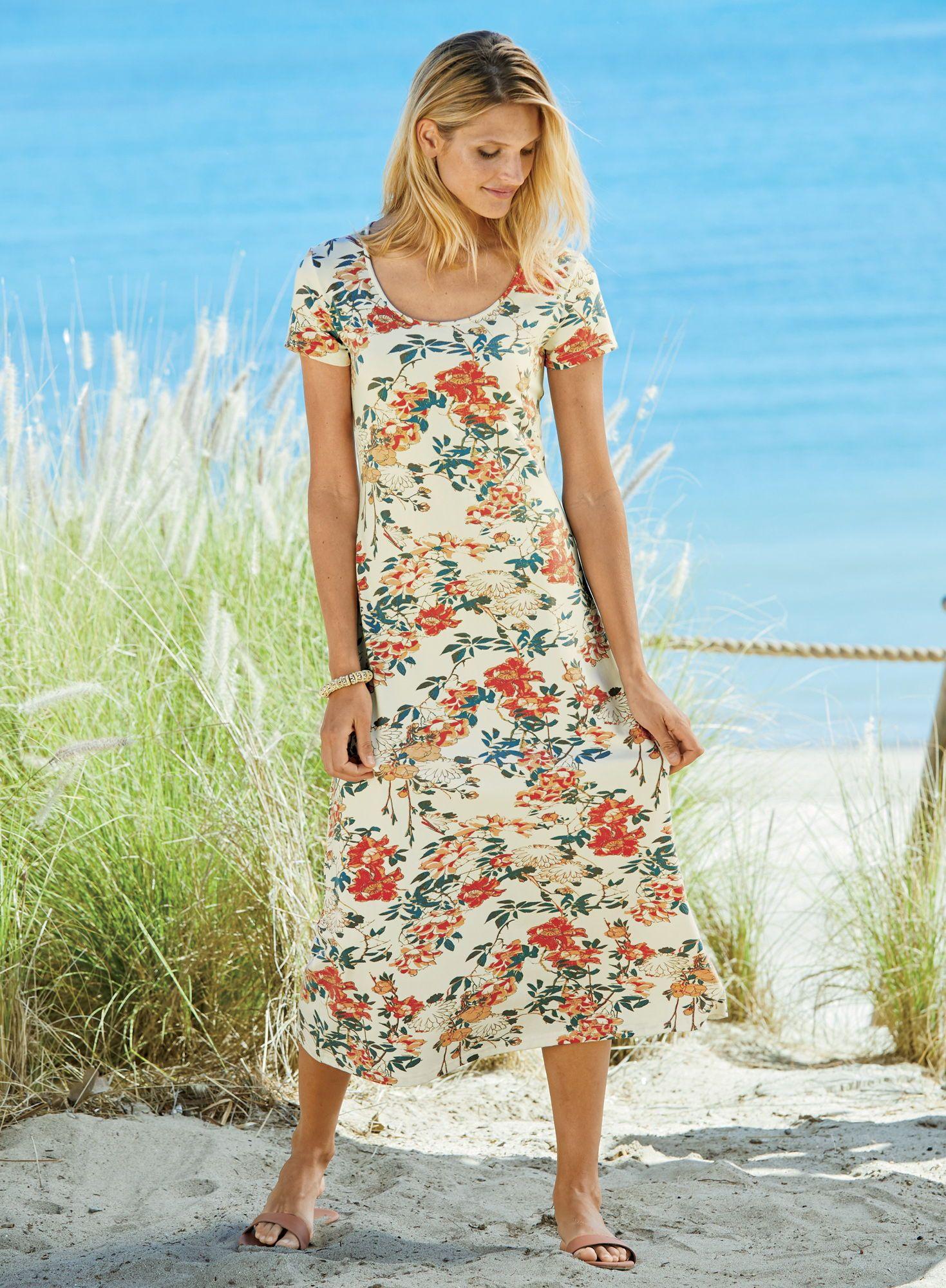 Tea House Dress Short Sleeve Dresses Midi Dress Plus Size Summer Dresses [ 2000 x 1469 Pixel ]