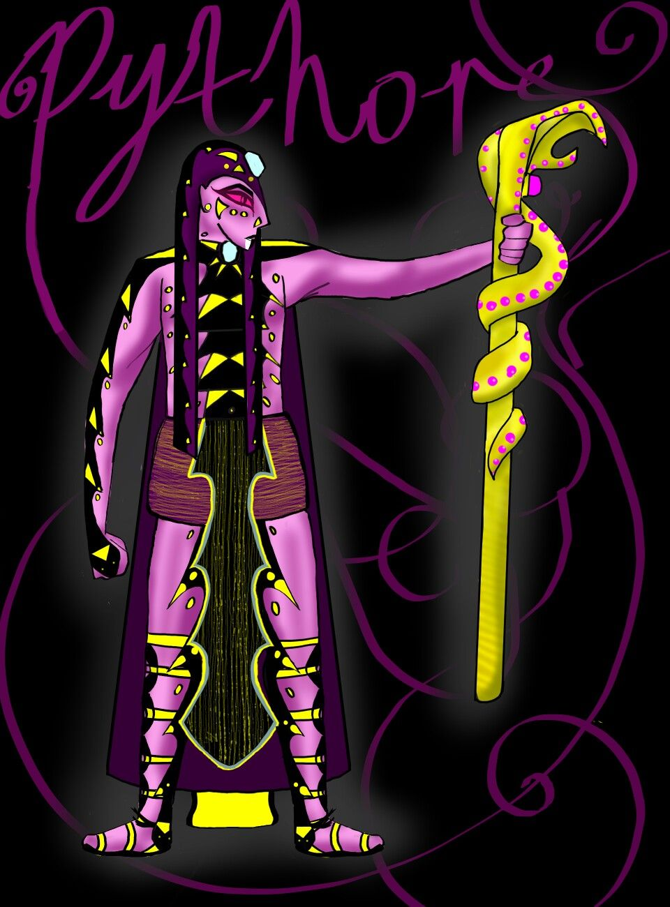 human pythor sorry for that pathetic ecuse of a staff