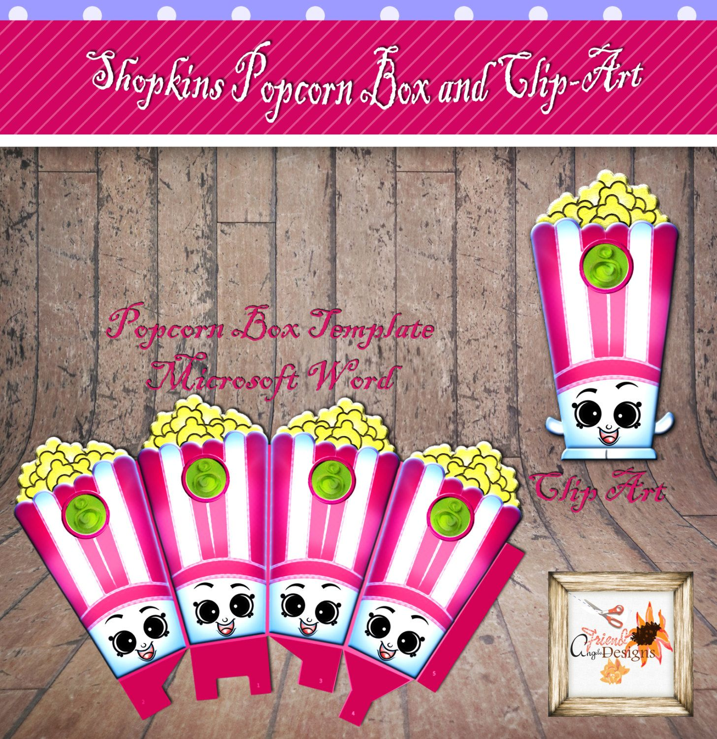 Little Groceries Pop Corn Birthday Party Printable Template with ...