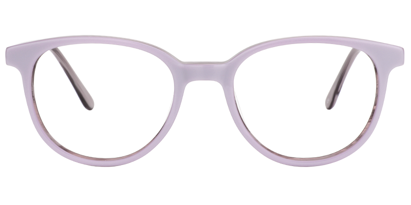 f462f545922 Todd Round Light Purple Glasses Prescription Eyeglasses 0505-02 ...