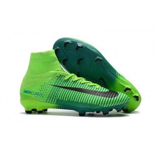 Botas De Futbol Nike Mercurial Superfly V FG Verde  18314ad8aeab7