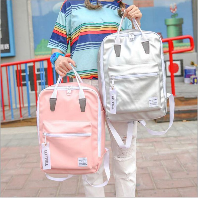 Free shipping 2016 autumn new fund Han Fan women backpack fashion leisure pure color contracted large capacity girls backpack ba
