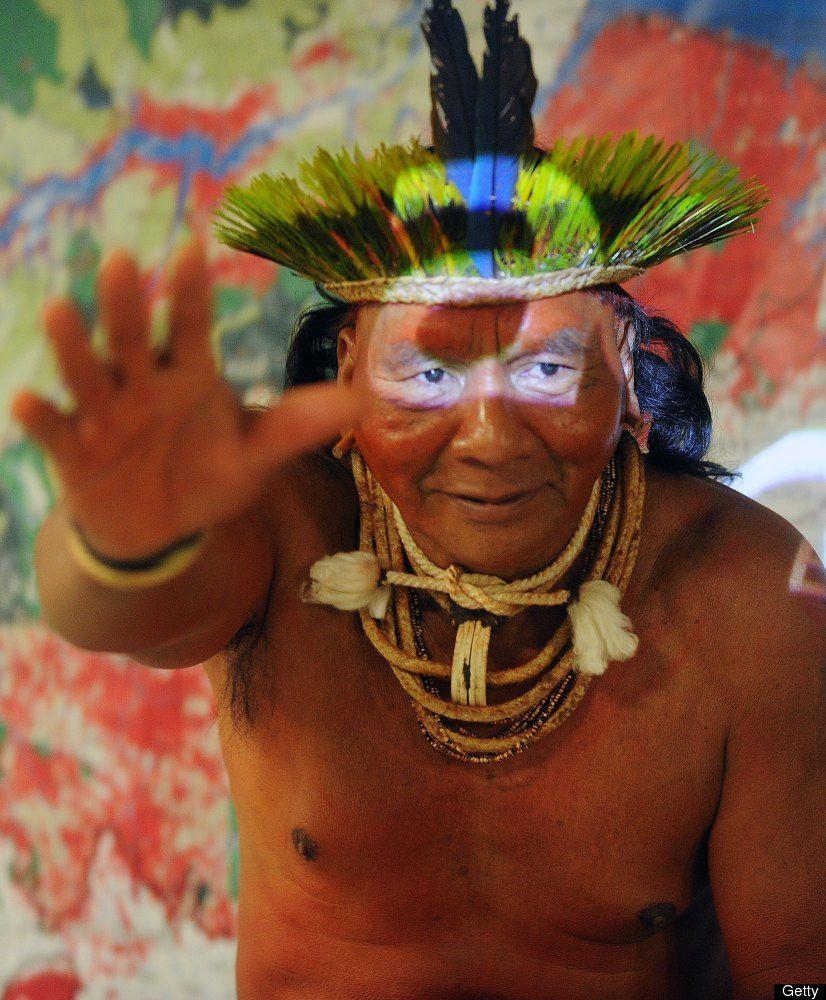 Brazilian indigenous Xavante chief Damia
