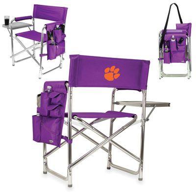 Clemson Tigers Sports Chair Black Sport Chair Green
