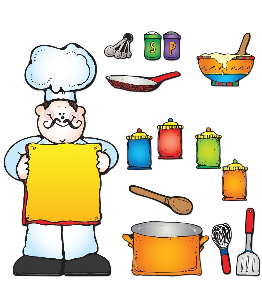 cooking themed bulletin board what u0027s cooking bulletin board set