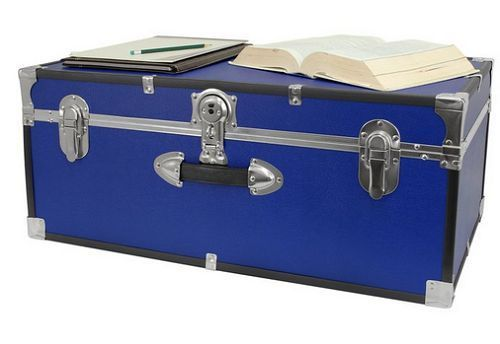 Foot Locker Storage Chest Endearing Boys College Trunk Blue Girls Chest 30 Inch Dorm Foot Locker Camp Design Ideas