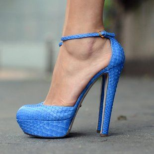 Sergio Rossi Blue High Heel Shoes