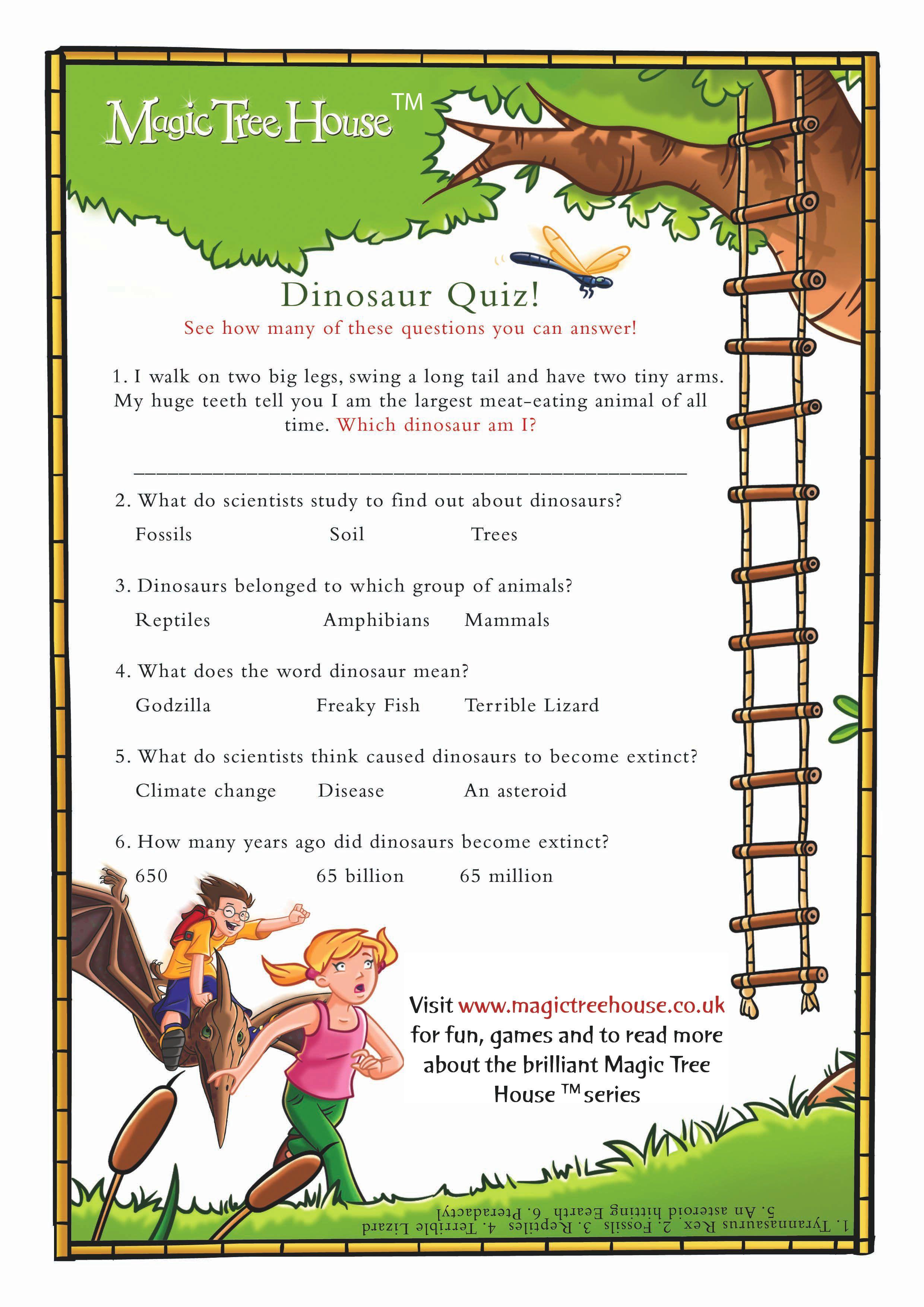 dinosaurs before dark davis 39 book club house quiz kids activity books magic treehouse. Black Bedroom Furniture Sets. Home Design Ideas