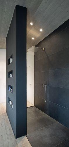 Photo of Stallwang house: Open shower | Bathroom, modern shower, bathroom design