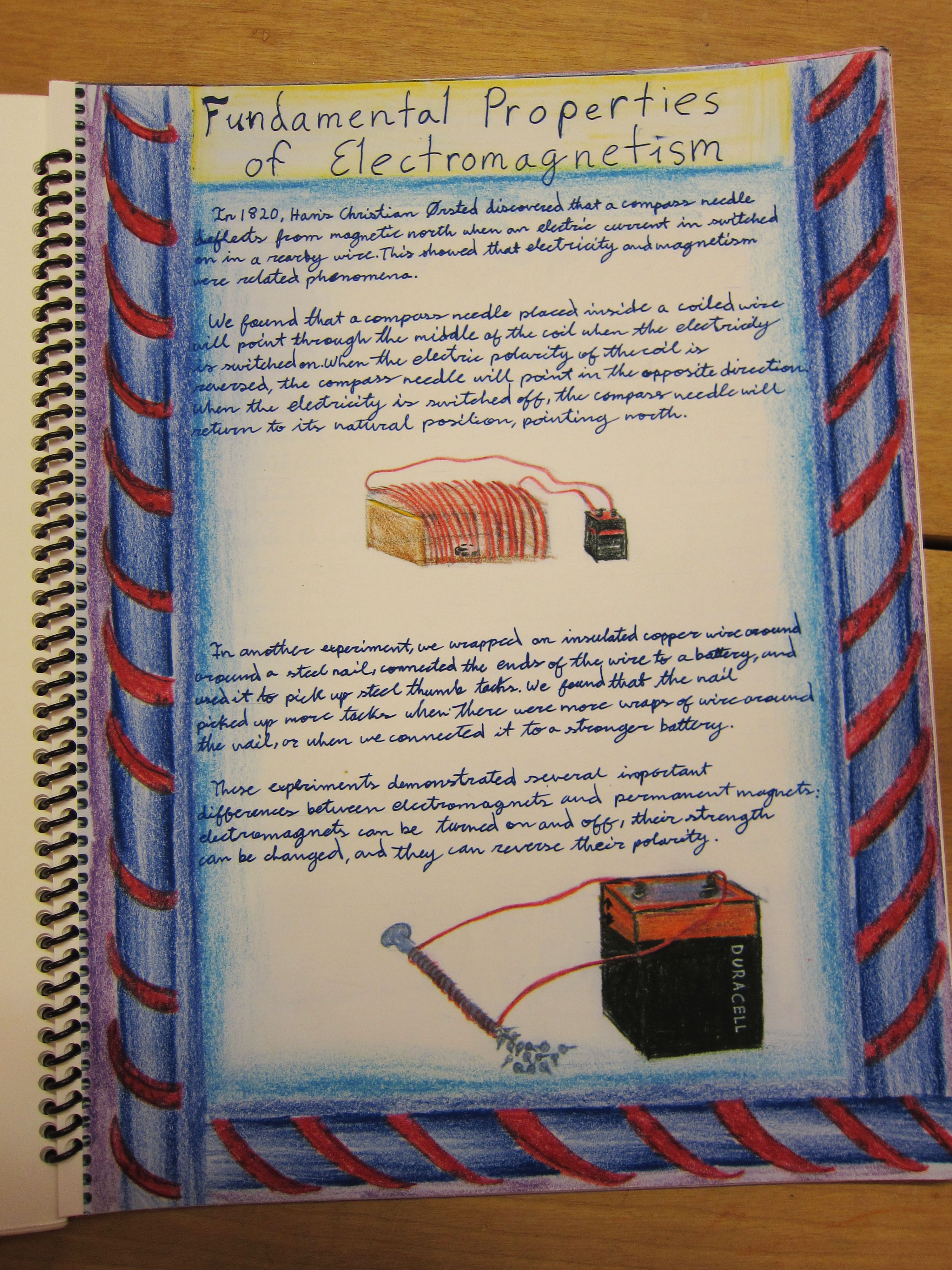 Waldorf Lesson Book On The Properties Of Electromagnetism