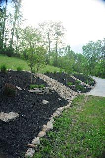 A Beautiful Landscaped Bank Sloped Backyard Landscaping Sloped Garden Sloped Backyard