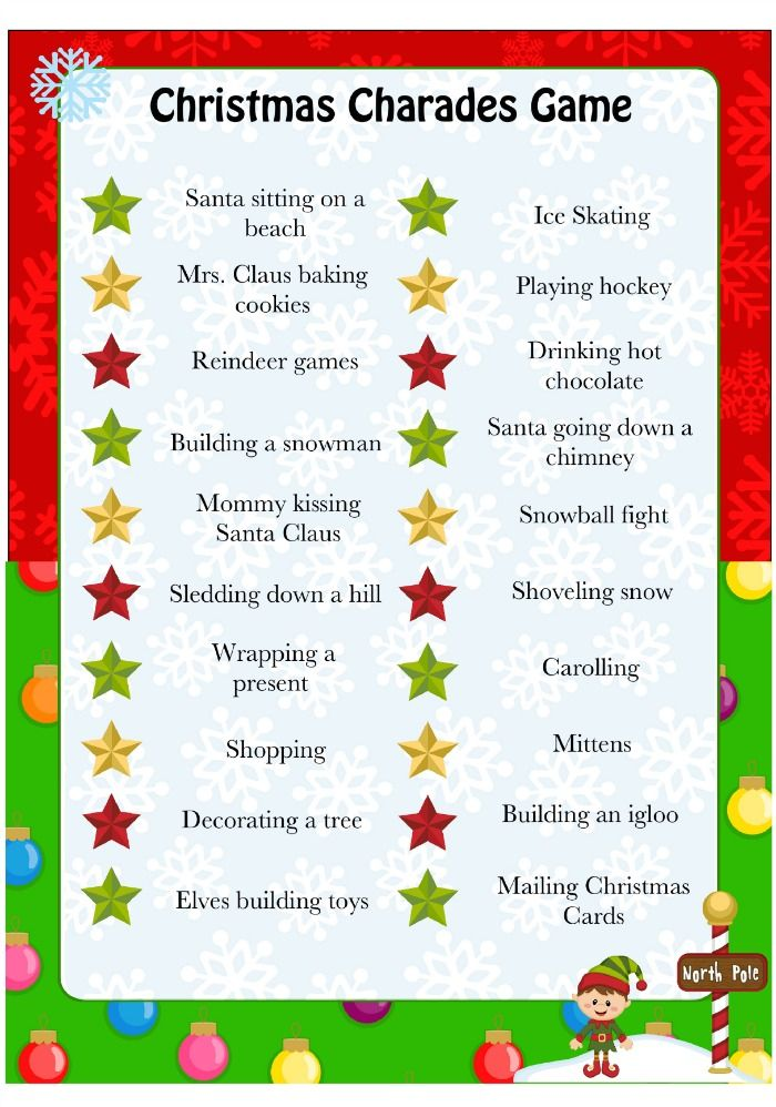 this is a fun silly christmas charades game perfect for a family date night or for a childrens christmas party be prepared to laugh - Fun Christmas Party Games