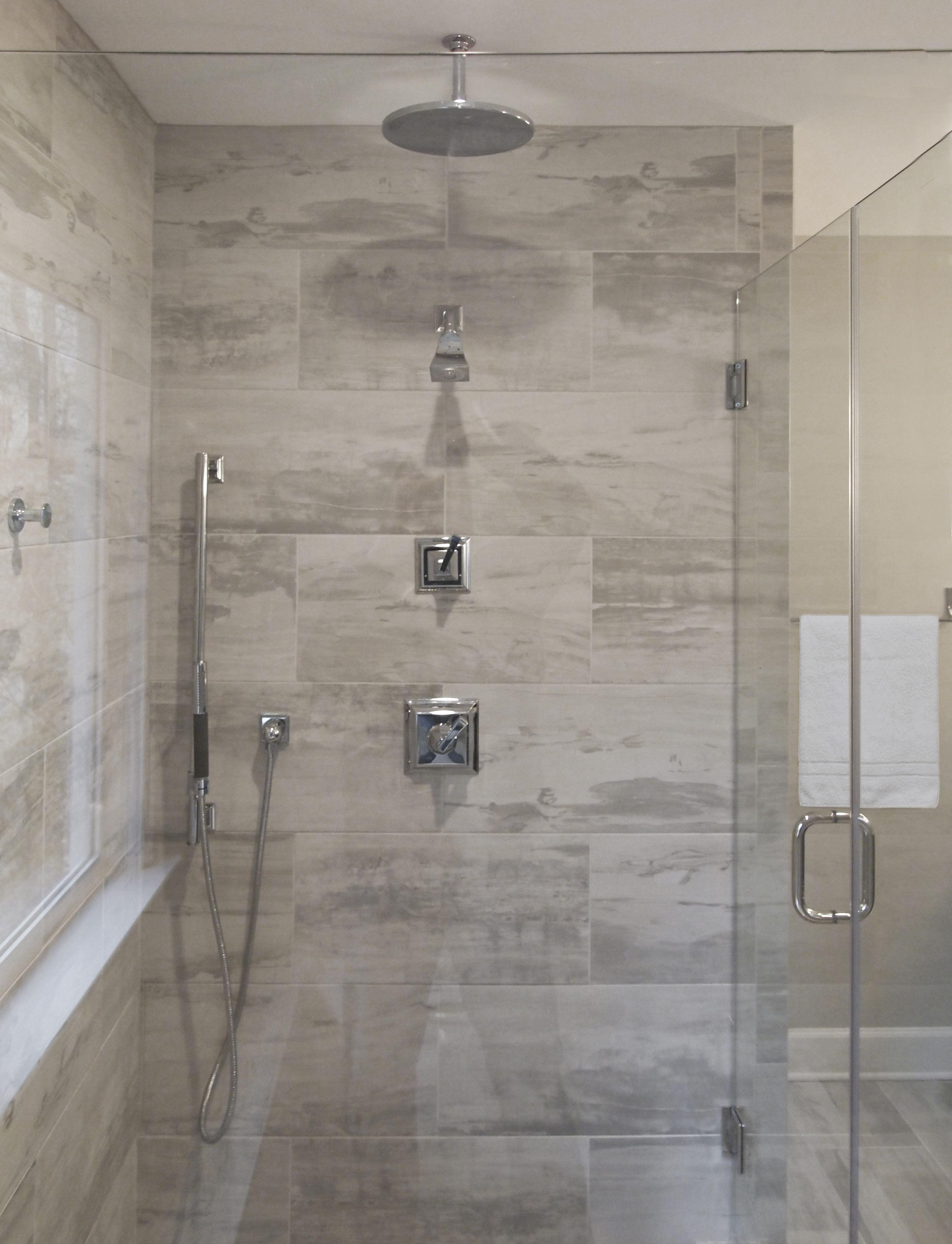 bathroom remodel glass enclosed shower
