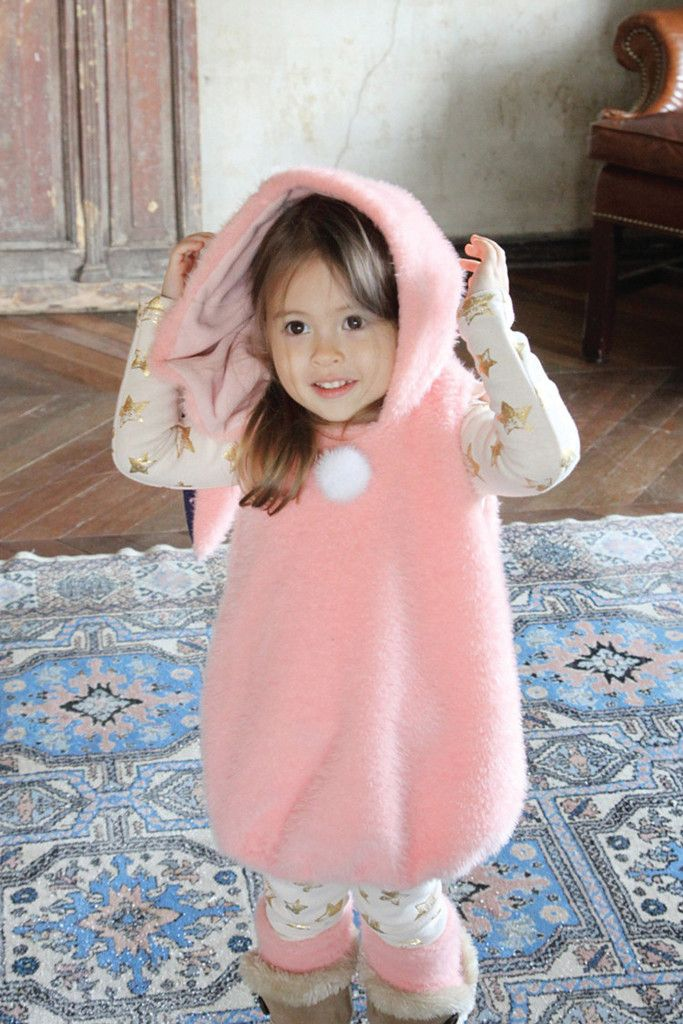 Big Ear Bunny Dress  2 colors Made with polyester 100% Hand wash and air dry recommended Designed and Made in Korea