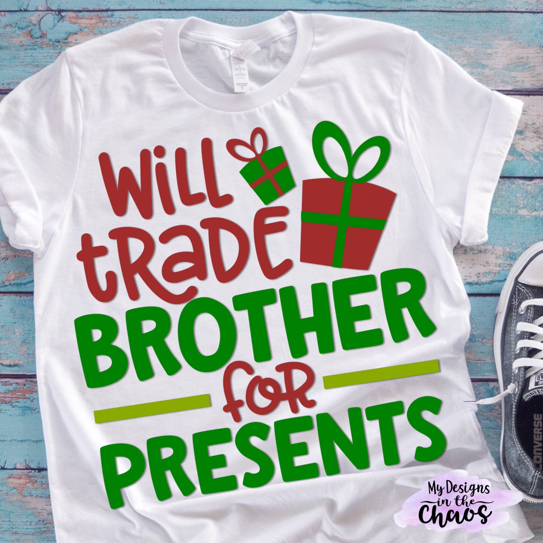 Will trade brother for presents Christmas shirts for
