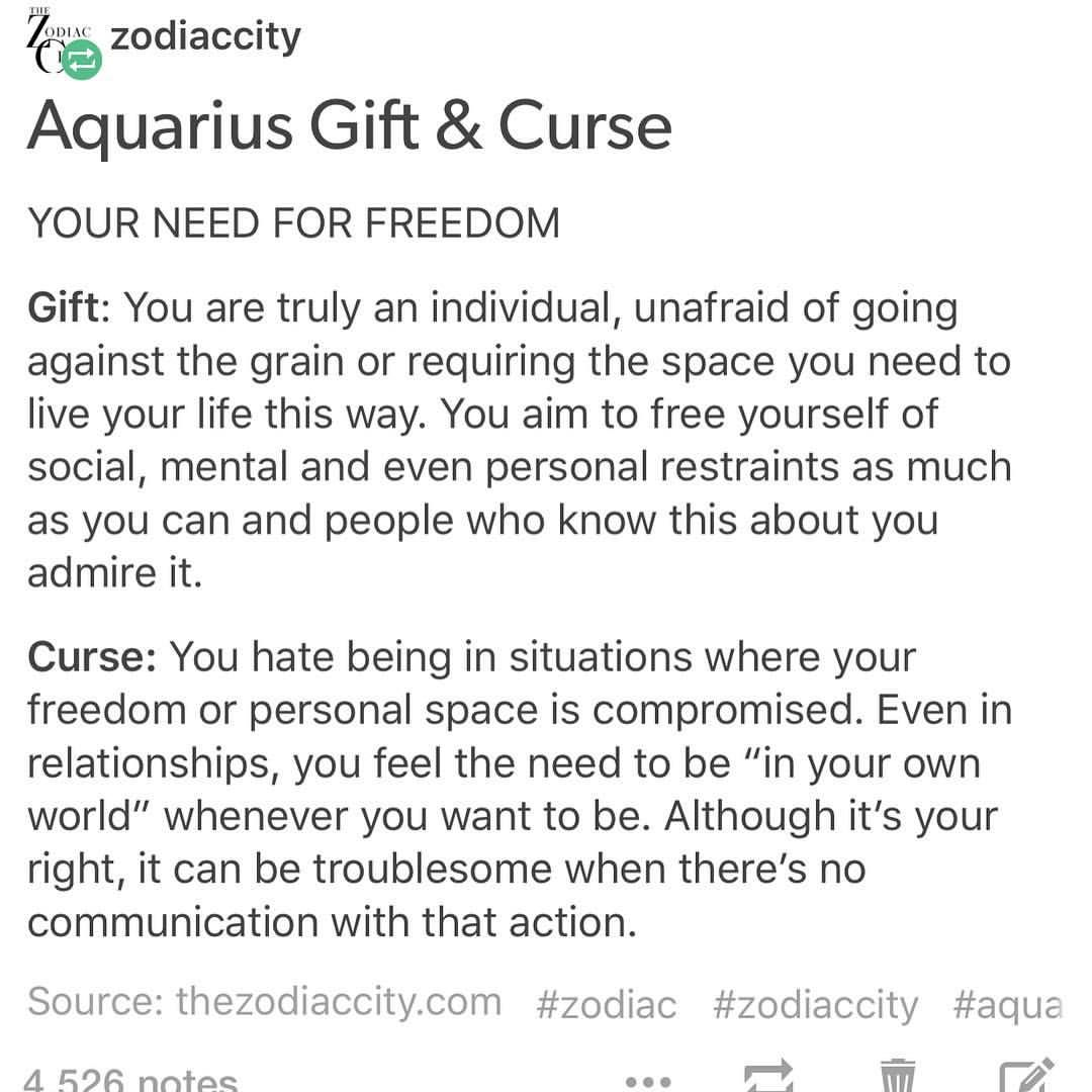Aquarius Gift Curse. Tag an #Aquarius Website: thezodiaccity.com |