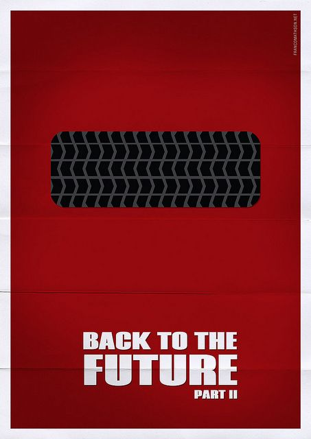 Back to the Future Part II (1989) ~ Minimal Movie Poster by Franco Mathson