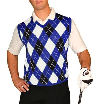 820ae7ac9cae8f Argyle Sweater Vest - Mens Royal/Black/White Golf Knickers, Argyle Sweater  Vest