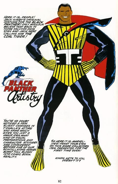 Jack Kirby S Original Design For Black Panther Pulp Culture