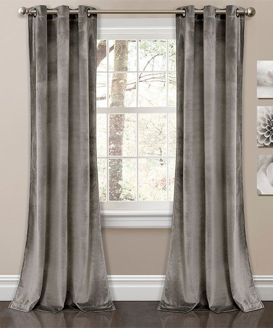 Take A Look At This Gray Prima Velvet Curtain Panel Set Of Two Today Curtainsideasforlivingroom Grey Curtains