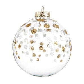boule p pites dor es sapin d co no l gold maisons du monde deco noel glass christmas. Black Bedroom Furniture Sets. Home Design Ideas