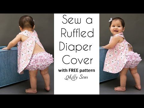 How to Sew a Ruffle Diaper Cover - Ruffled Baby Bloomers - YouTube ...