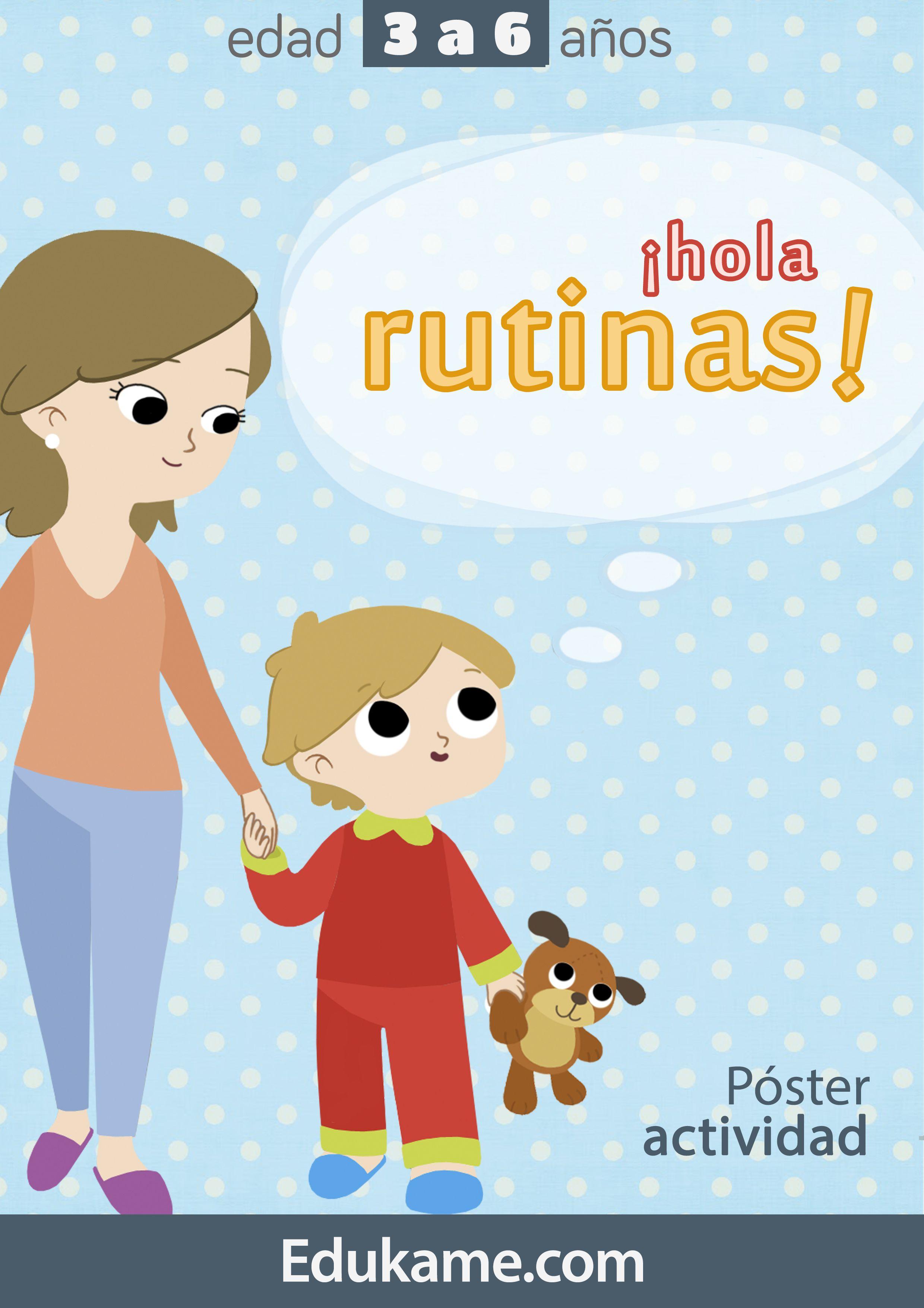 Poster Hola Rutinas Con Imagenes Actividades Educacion Emocional Infantil Rutinas