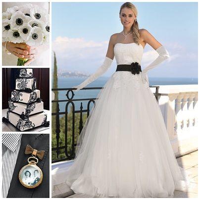Wedding theme: black and white dress: Ladybird www.ladybird.nl