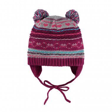 9bb1c91be07 Bonnet en tricot de fantaisie avec attache-oreilles