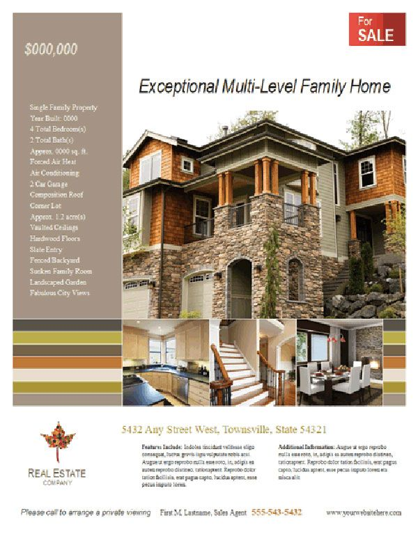 Creating A Personalized Face Sheet For Your Home Face You Ve And - Microsoft publisher real estate flyer templates