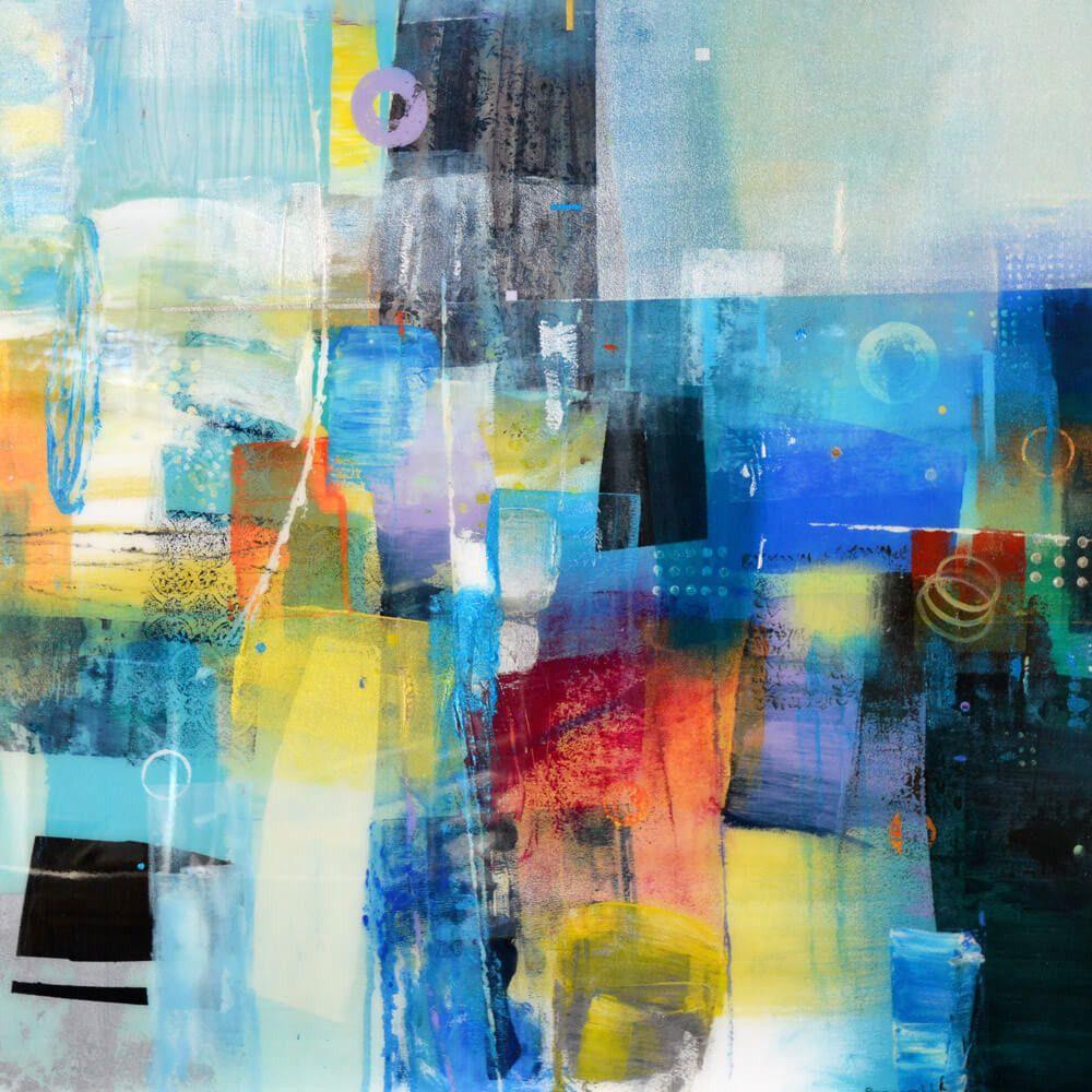 Composition in blue | Comment peindre, Peinture abstraite, Art en ligne