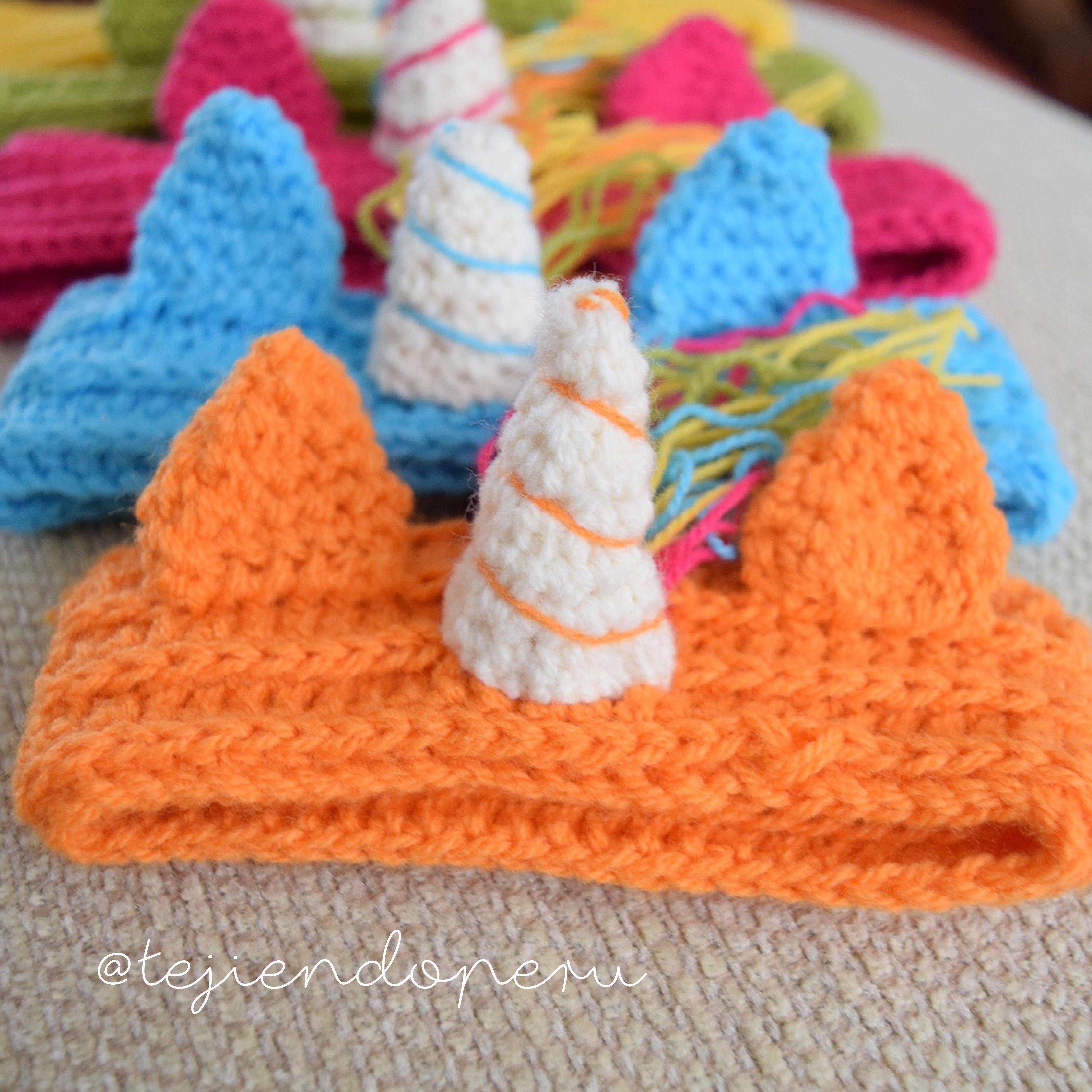 Vincha o diadema unicornio arco iris tejida a crochet paso - Diademas a crochet ...