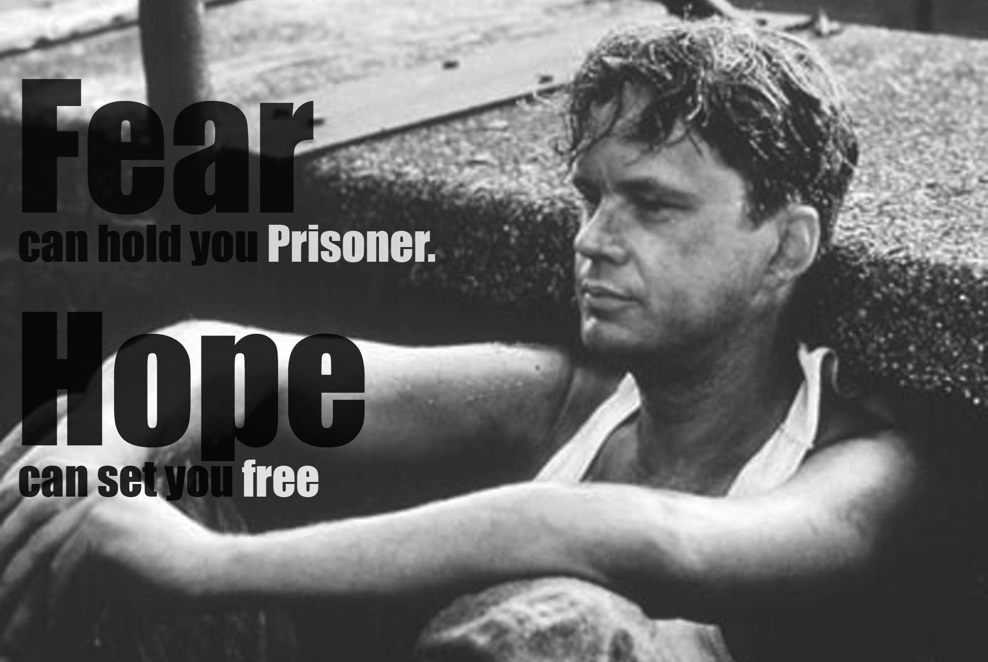 shawshank redemption hope quote google search hope andy dufresne the shawshank redemption tim robbins