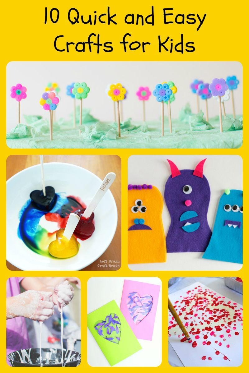 10 Quick And Easy Crafts For Kids Things To Do With Nephews And