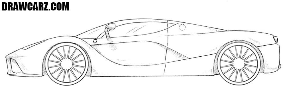 How To Draw A Ferrari Car Ferrari Car Sports Car Ferrari