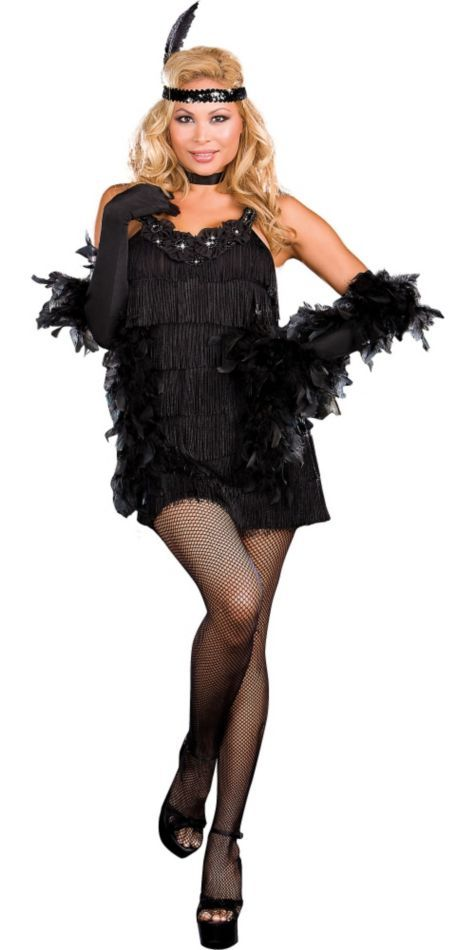4ff2b74e8 Adult All That Jazz Plus Size Flapper Costume - Party City ...