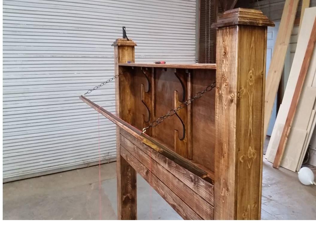 Concealed Gun Headboard Wood Diy Furniture Building