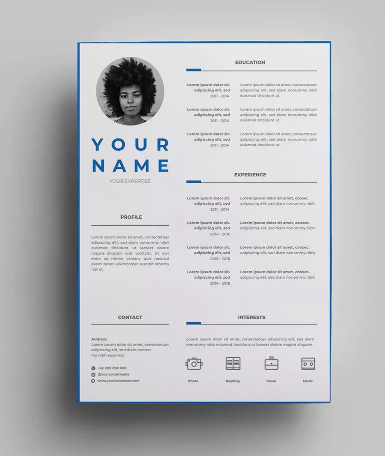 Resume Design Templates 07 By Surotype On Resume Design Template