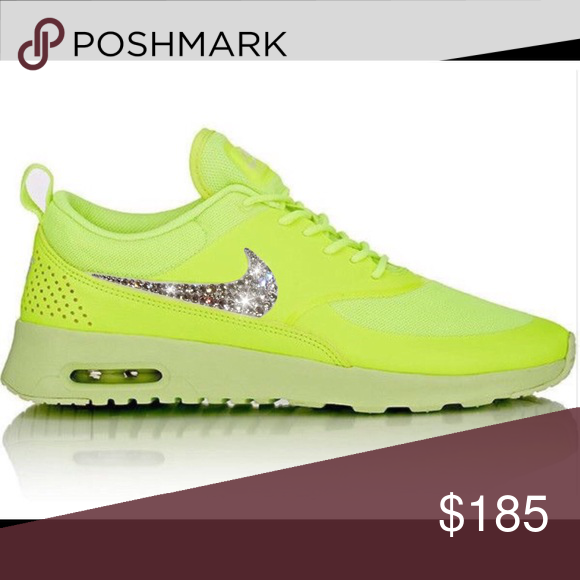 Bling Nike Air Max Thea with Swarovski Crystals Authentic New Women s Nike  air Max Thea Shoes 9b7cb6992