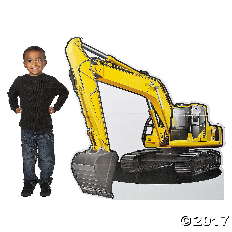Construction Excavator Cardboard Stand-Up | Construction birthday ...