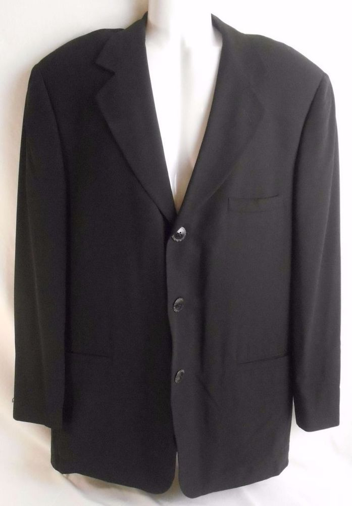 82d5d3c26478 GIANNI VERSACE Mens Blazer Jacket Sport Coat Black Size US42 EU52 Made In  Italy  versacemensblazer  mensblazer