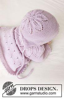 Photo of Pink Petals Hat – Gestrickte Mütze für Babys mit Blattmuster und Krausrippen in DROPS BabyMerino. Größe 0-24 Monate. – Free pattern by DROPS Design