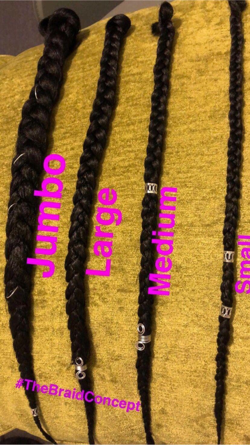 Braid Chart Braids Jumbo Braids Box Braids Braids Sizes Braided Hairstyles Box Braids Hairstyles Box Braids Styling