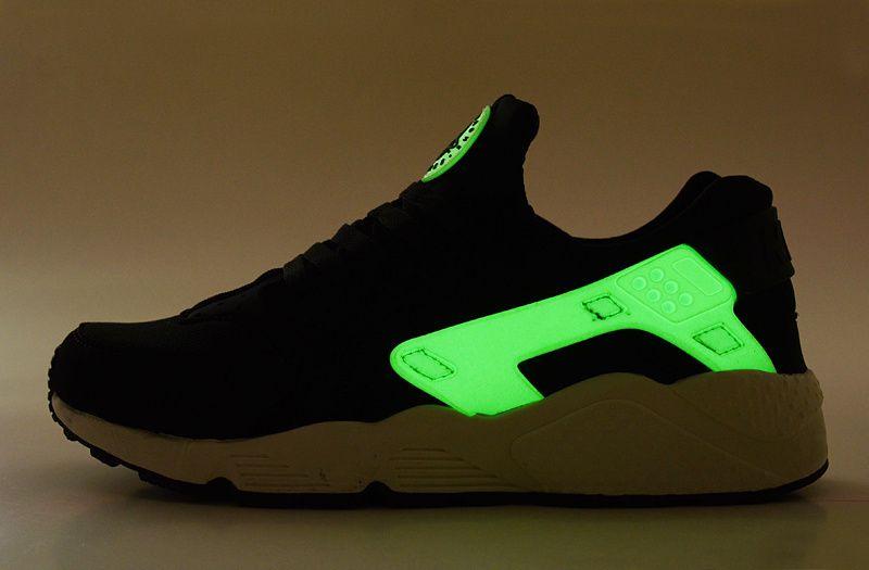 best website 3f05c 84743 Nike Air Huarache Black White Green Glow In the Dark