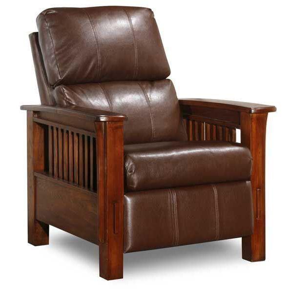 Santa Fe Bark High Leg Recliner Recliner Mission Style Furniture Leather Recliner
