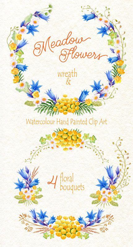 Aquarelle Fleur Clipart Collection Fleurs De Par Watercolorseasons